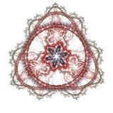 在三角里面的圈子分数维 免版税库存照片