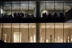 在上城博物馆的夜 免版税库存图片