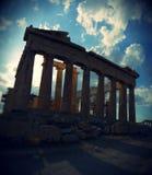 在上城,雅典,希腊的帕台农神庙寺庙 免版税库存照片