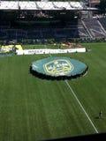 在上帝公园的领域的AT&T MLS全明星标志 免版税图库摄影
