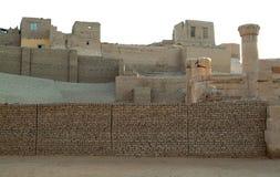 在上帝Horus寺庙的古老废墟埃德富海岛的没有人,埃及 免版税库存图片