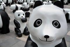 在上海当前的Eco熊猫 图库摄影