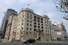 在上海障壁的老大厦  免版税库存图片