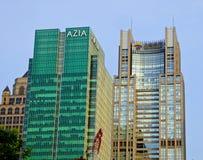 在上海lujiazui的高现代大厦  库存图片