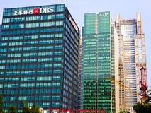 在上海lujiazui的高现代大厦  免版税库存图片