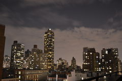 在上部东边的夜 免版税图库摄影
