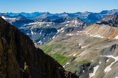 在上部圣胡安山的雪原 免版税库存图片
