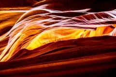 在上部羚羊峡谷里面 库存图片