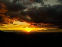 在上面的日落 图库摄影