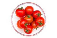 在上面的蕃茄碗 免版税库存图片