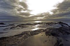 在下午的植物学海湾,口岸兰福庐阿 库存照片