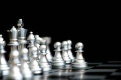 在下棋比赛的典当在第一移动步 库存图片