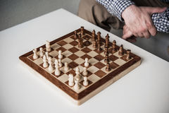 在下棋比赛的接下来的步骤 免版税库存照片