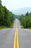 在不列塔尼的高地国家公园海角的路  库存照片