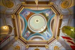 在不列颠哥伦比亚省立法大厦里面在维多利亚, Britis 库存图片