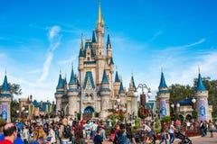 在不可思议的王国的灰姑娘城堡,华特・迪士尼世界 免版税库存照片