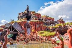 在不可思议的王国的飞溅山,华特・迪士尼世界 图库摄影
