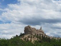在不可靠的小山的小山 免版税库存照片