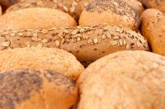 在不同的类型上添面包 库存图片
