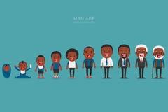 在不同的年龄的非裔美国人的种族人世代 免版税库存照片
