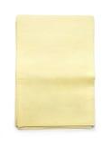 堆空白的黄色报纸 库存照片