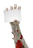 在与空间的白色隔绝的可怕蛇神手文本的 库存图片