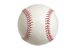 在与裁减路线的白色查出的棒球 免版税库存图片