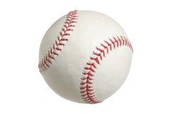 在与裁减路线的白色查出的棒球 库存照片