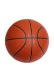 在与裁减路线的白色查出的篮球 免版税库存照片