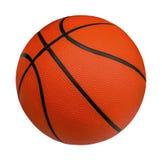 在与裁减路线的白色背景隔绝的篮球 免版税库存照片