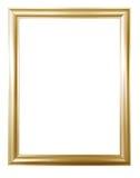 在与裁减路线的白色背景隔绝的古色古香的金黄框架 欧洲艺术 库存照片