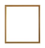 在与裁减路线的白色背景隔绝的古色古香的金黄框架 库存图片