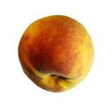 在与裁减路线的白色背景隔绝的桃子 没有阴影的特写镜头 宏指令 吃素食主义者 库存照片