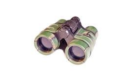 使用在白色隔绝的双筒望远镜 免版税库存照片