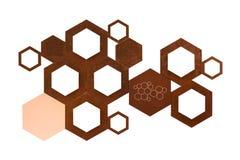 在与c的白色背景隔绝的金属分子象标志 免版税库存图片