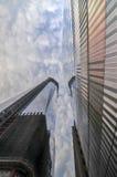 在世界之下的中心建筑贸易 库存照片