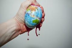 在世界之下的压 免版税库存照片
