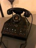 在世界大战2,在2016年马其诺防线Ouvrage Schoenenbourg阿尔萨斯FranceÂ期间的老电话 免版税库存照片
