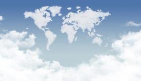 在世界形状的明亮的云彩 免版税图库摄影