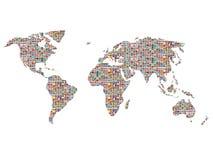 在世界的标志 库存例证
