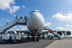 在世界空中客车A380-800的最大的乘客班机 库存图片