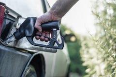 在世界经济的燃料危机 库存照片