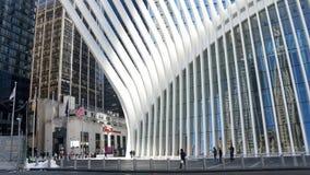 在世界贸易中心的Oculus大厦在纽约,曼哈顿 图库摄影