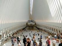 在世界贸易中心运输里面的人们 图库摄影