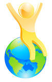在世界顶部 免版税库存照片