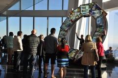在世界贸易中心一号大楼的城市脉冲在纽约 库存照片