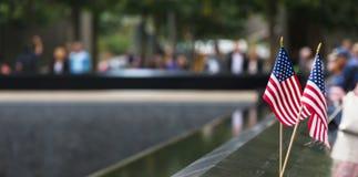 在世界贸易中心爆心投影的纪念品 免版税库存照片