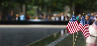 在世界贸易中心爆心投影的纪念品 免版税库存图片