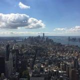 在世界贸易中心的看法从帝国大厦 免版税图库摄影