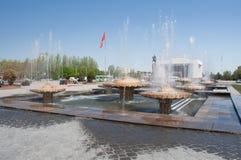 在丙氨酸太正方形的喷泉 免版税库存照片